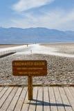 badwater κοιλάδα θανάτου λεκα& στοκ φωτογραφίες με δικαίωμα ελεύθερης χρήσης