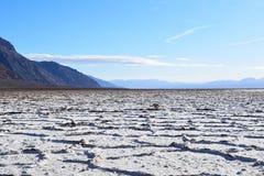 Badwater basen w Śmiertelnej dolinie obraz royalty free