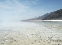 Badwater Basin. Scenic view of cloudscape over Badwater Basin, Death Valley, California, U. S. A royalty free stock image