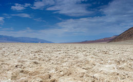 Badwater basin in Californian Death Valley National Park Area Lo Royalty Free Stock Images