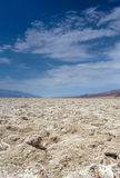 Badwater basin in Californian Death Valley National Park Area Lo. Cated below Sea Level in USA. Vertical Image Composition Stock Image