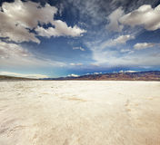 Badwater basin in Death Valle Stock Photography