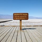 Badwater Basin in Death Valley. Stock Photography