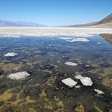 Badwater Basin in Death Valley. stock images