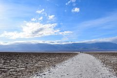 Badwater Basin in the Death Valley stock photo