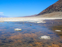 Badwater basin in Death Valley Stock Image