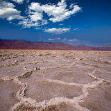 Badwater Basin Death Valley salt formations Royalty Free Stock Images