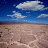 Badwater Basin Death Valley salt formations Stock Photo