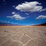 Badwater Basin Death Valley salt formations Royalty Free Stock Photos