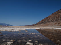 Badwater Basin in Death Valley Stock Photo