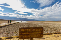 At the badwater basin, deepest point, Death Valley, USA Stock Photo