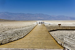 Badwater Basin, deepest point in the USA Royalty Free Stock Images