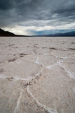 Badwater basin salt flats Royalty Free Stock Photo