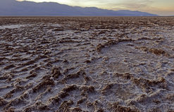 Badwater Basin salt pan, Death Valley Stock Photography