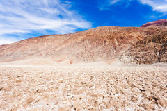 Badwater Basin salty crust Death Valley NP CA USA Royalty Free Stock Photography