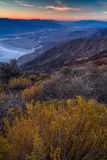 Badwater basin seen from Dante`s view, Death Valley, California, royalty free stock photography
