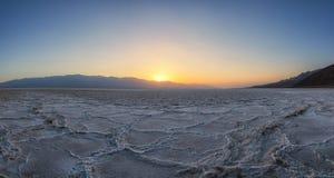 Badwater Basin Sunset Royalty Free Stock Photos