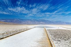 Badwater Bassin in Death Valley Lizenzfreie Stockbilder