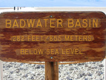 Badwater-Becken, Death Valley, Kalifornien Lizenzfreies Stockbild