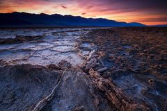 Badwater-Becken, Death Valley, Kalifornien, USA lizenzfreie stockbilder