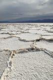 badwater dale soli śmiertelnych mieszkań Obraz Royalty Free