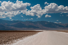 Badwater dans Death Valley Photographie stock
