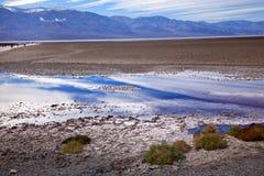 Badwater Death Valley Califórnia Fotos de Stock Royalty Free