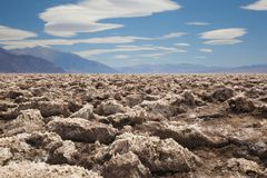Badwater, Death Valley National Park Stock Photo