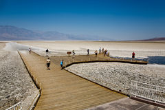Badwater, deepest point in the USA, Stock Photos