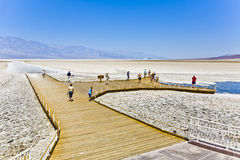 Badwater, deepest point in the USA Royalty Free Stock Photos
