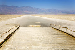 Badwater, deepest point in the USA, Saltsee mixed with minerals Stock Photography