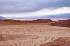 Badwater handfatlandskap Death Valley NP CA USA Royaltyfri Bild