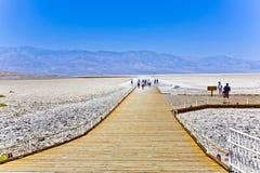 Badwater, le point le plus profond aux Etats-Unis Images libres de droits