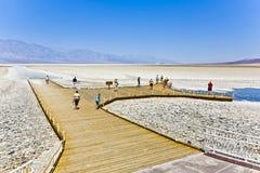 Badwater, punto più profondo in U.S.A. Fotografie Stock Libere da Diritti