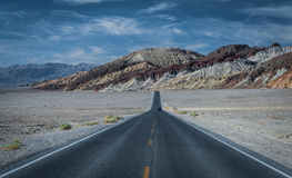 Badwater Road in Death Valley Royalty Free Stock Photos
