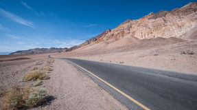 Badwater Road Death Valley. Landscape in Death Valley, Badwater Road Death Valley, California, USA Stock Photos