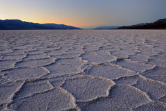 Badwater salt pan polygons Royalty Free Stock Image