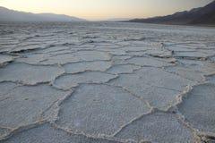 Badwater soli mieszkania Zdjęcie Royalty Free