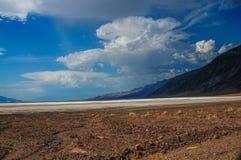 Badwater teren w Śmiertelnej dolinie obraz stock