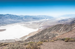Badwater view from above, Death Valley National Park, California Royalty Free Stock Photography