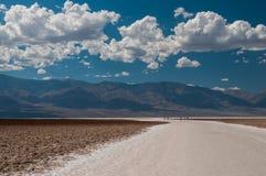 Badwater w Śmiertelnej dolinie fotografia stock