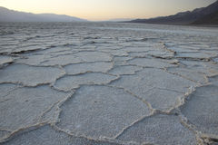 Badwater zoute vlakten Royalty-vrije Stock Foto