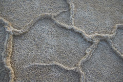 Badwater zoute vlakten Stock Foto