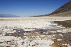 Badwaterbassin - het Nationale Park van de Doodsvallei Stock Foto's