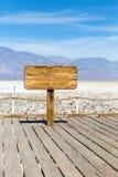Badwaterbassin in het Nationale Park van de Doodsvallei, Californië, Nevada royalty-vrije stock foto's