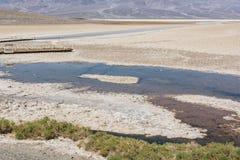 Badwaterpool in het Nationale Park van de Doodsvallei, Californië Stock Afbeeldingen