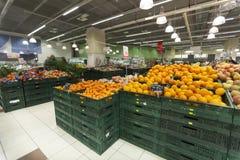 Badylarka sklep Pomarańcze w przedpolu zdjęcie royalty free