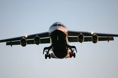 BAe 146 on landing approach Stock Photo