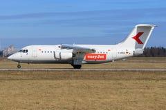 Bae Avro από Easyjet στοκ φωτογραφία με δικαίωμα ελεύθερης χρήσης