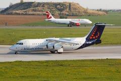 BAE 146 Brussel Stock Photos